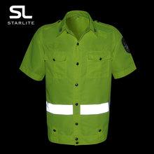 夏季新款短袖执勤服 交通警示荧光服