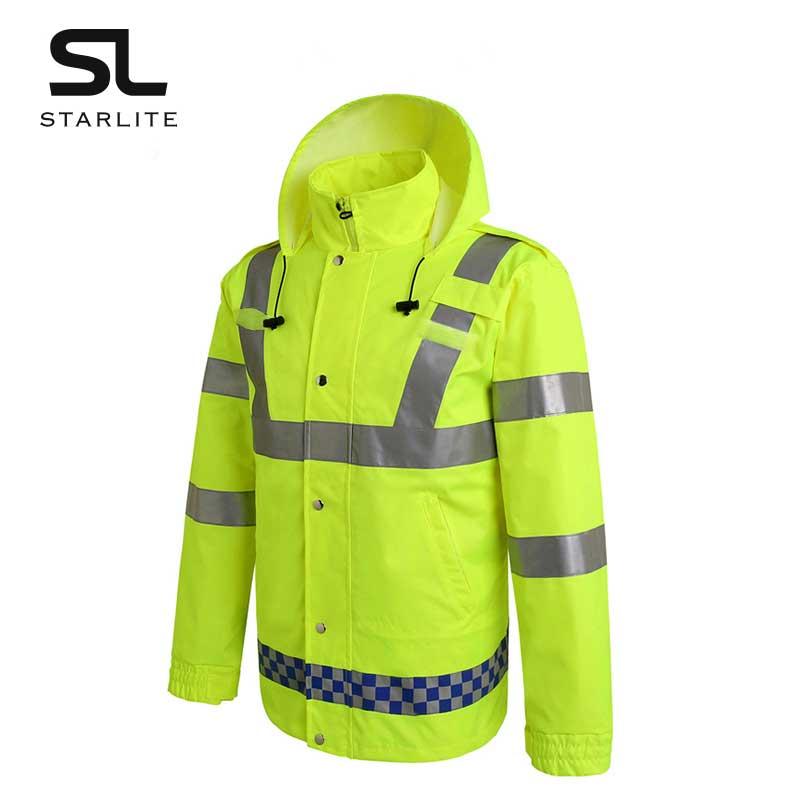 港式长袖交通路政反光雨衣多口袋可印刷