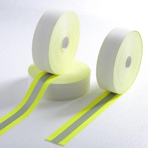 全棉荧光黄阻燃警示带
